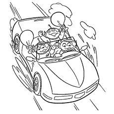 Toy Aliens In The Car Coloring Pages Printable