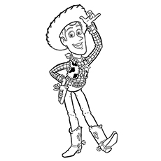 Woody All Alone from Toy story Coloring sheet to print