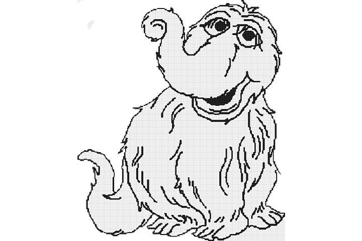 alfa img showing sesame street snuffleupagus coloring pages