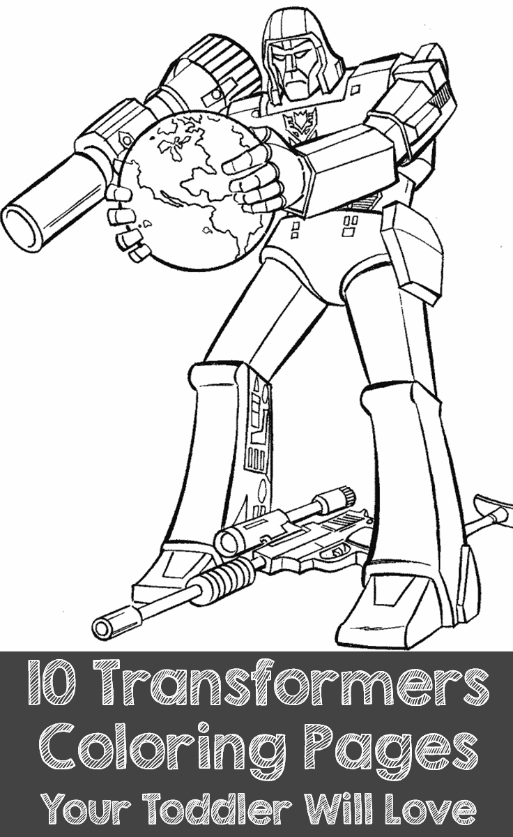 Free coloring pages transformers