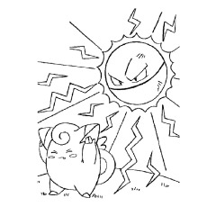 Voltorb Versus Clefairy Coloring Pages