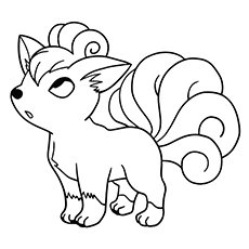 Pokemon Character Vulpix Coloring Pages
