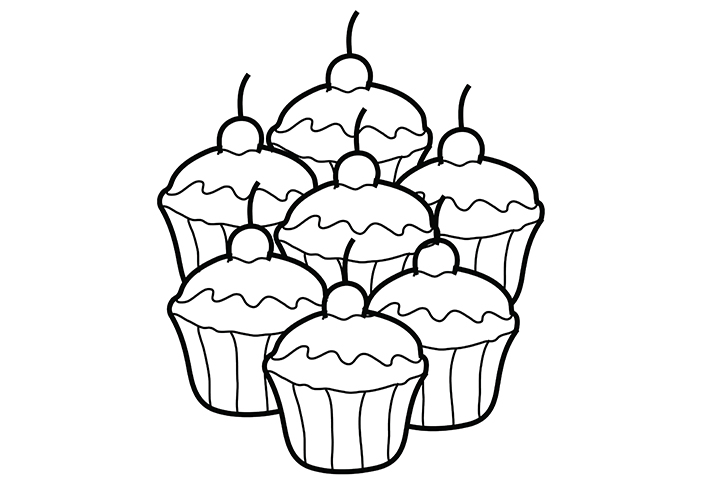 The Gallery For Gt Coloring Pages Of Cupcakes With Faces