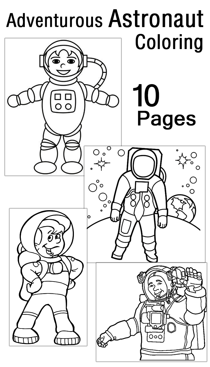 astronaut on the moon coloring pages pics about space