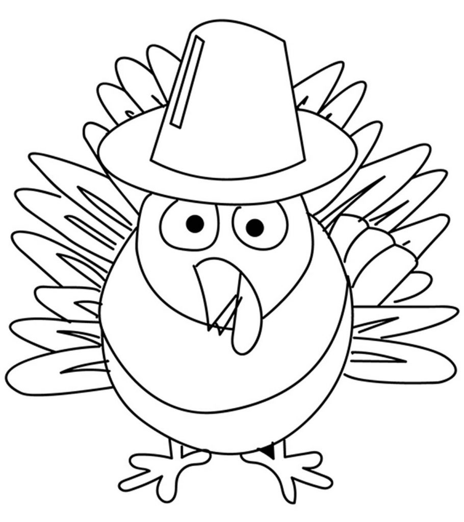 Top 10 Free Printable Thanksgiving Turkey Coloring Pages ...
