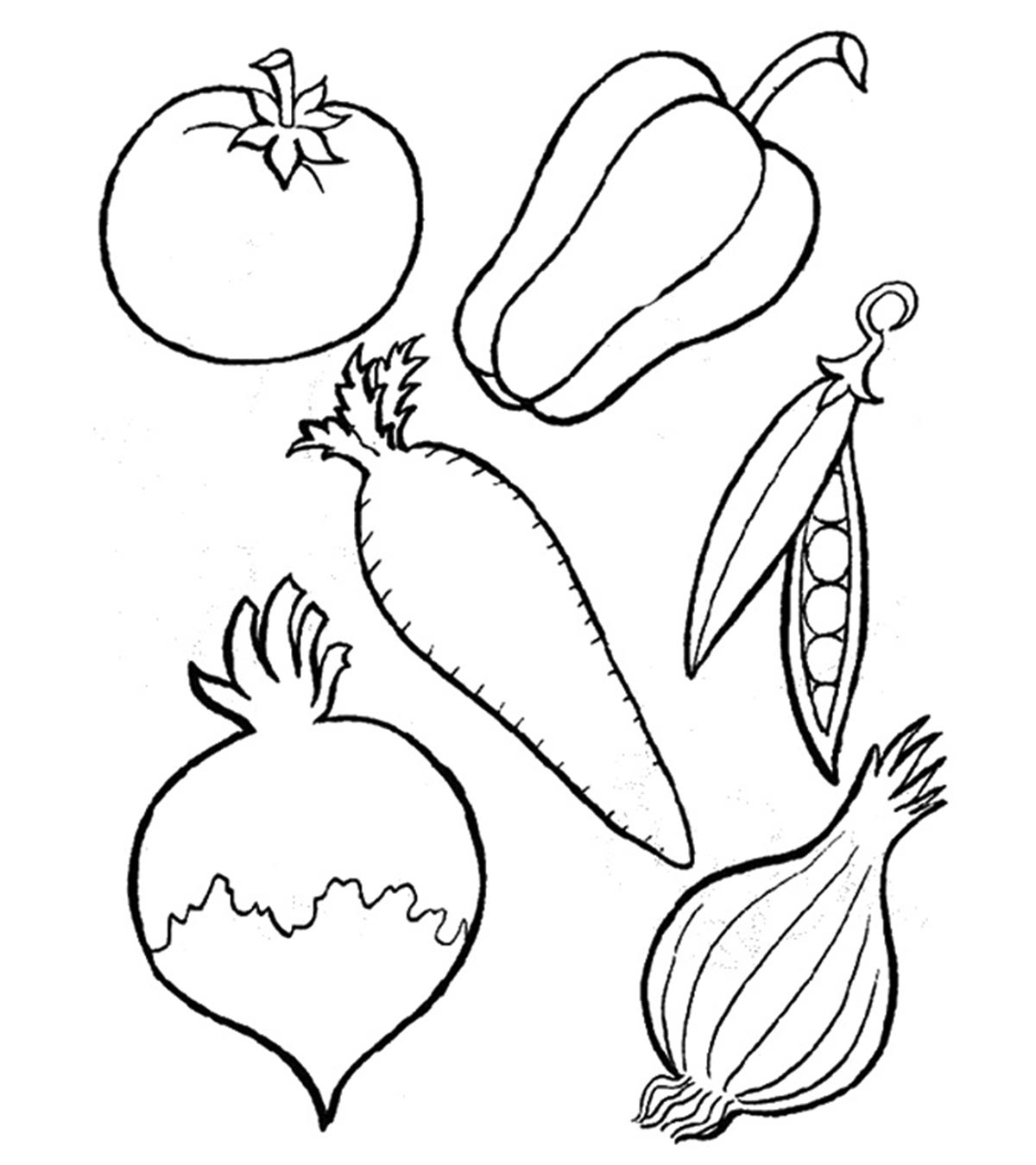 Top 3 Free Printable Vegetables Coloring Pages Online