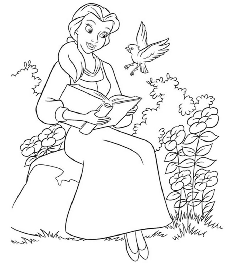 beauty & the beast coloring pages | Top 10 Free Printable Beauty And The Beast Coloring Pages ...