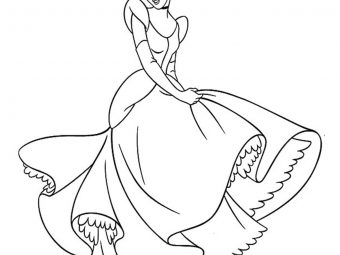 25 Beautiful Cinderella Coloring Pages For Your Toddler