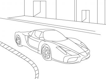 25 Best Muscle Car Coloring Pages For Your Toddler