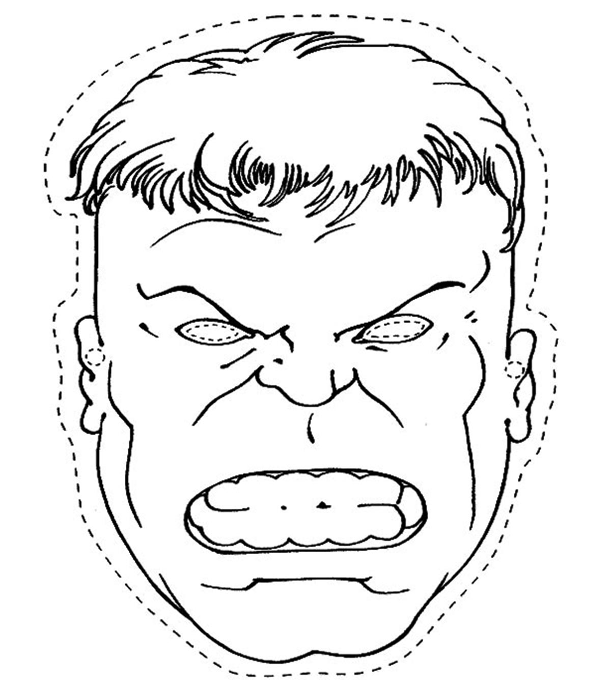 Popular Hulk Coloring Pages For Toddler