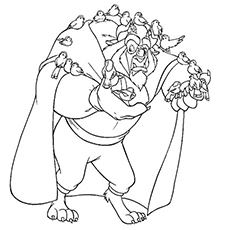 beauty and the beast coloring pages free Top 10 Free Printable Beauty And The Beast Coloring Pages Online beauty and the beast coloring pages free