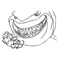 a bruce with cute finding nemo printable cute finding nemo with friends coloring pages