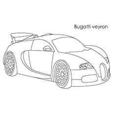 Free Coloring Pages Sports Cars. A Bugatti Veyron Car 20 Free Printable Sports Coloring Pages Online