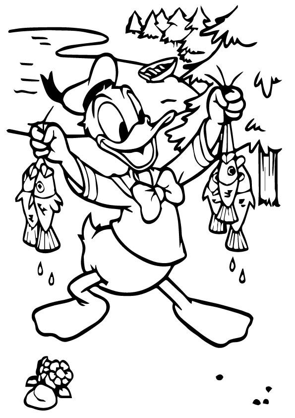 A-Cute-Donald-Duck-a-fish