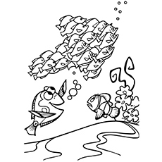 Printable Cute Finding Nemo with Friends Coloring Pages