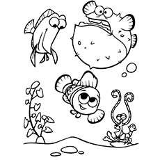 Nemo With Bloat Coloring Pages