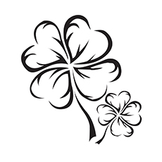 A Cute Four Leaf Clover coloring images