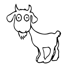 cute goat coloring pages