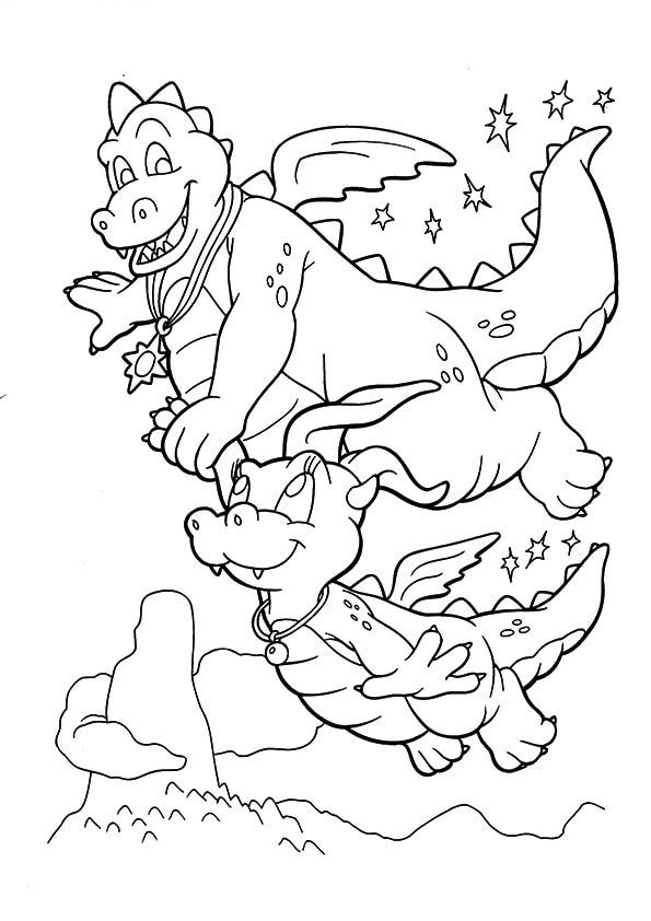 A-Dragon-Tales-Coloring-Smocze