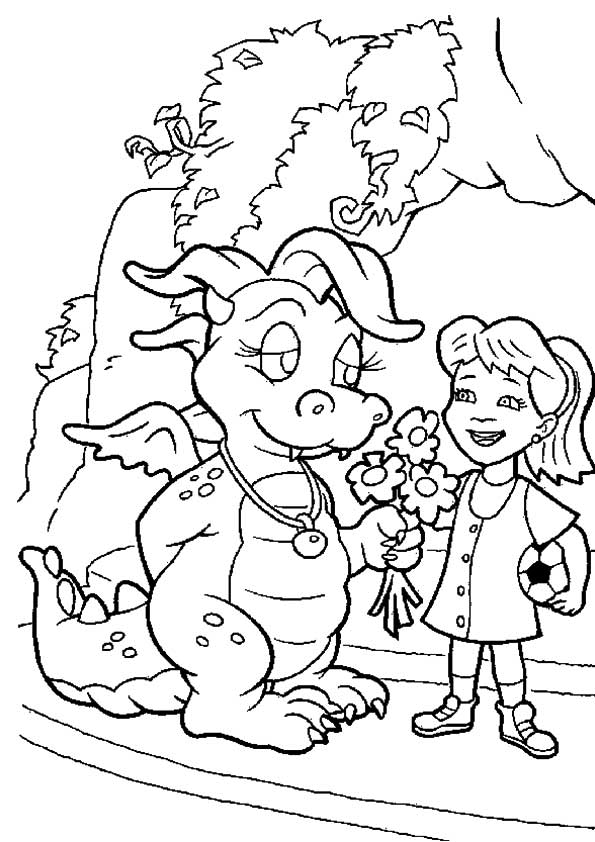 A-Dragon-Tales-Coloring-flowers