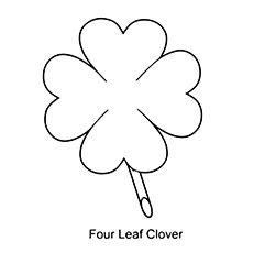 a four leaf clover - Four Leaf Clover Printable