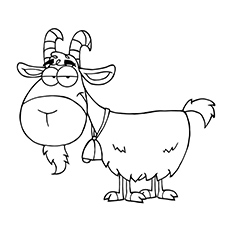 Goat Cartoon Character Coloring Pages