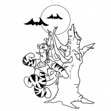 A Halloween Tigger Coloring