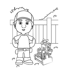 a handy manny and friends taking - Handy Manny Colouring Pages