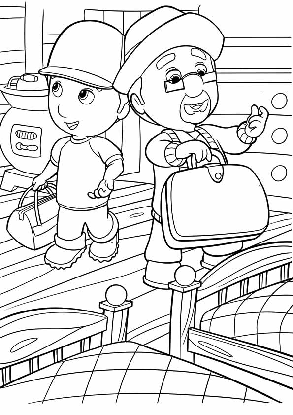 A-Handy-Manny-coloring-bed