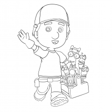A Homepage Cartoon Handy Manny Coloring