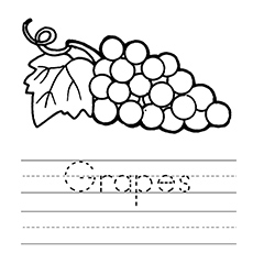 A-Learn-to-Spell-Grapes-Coloring-Page