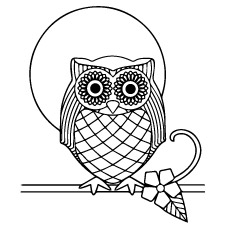 An Owl Pattern Coloring Pages