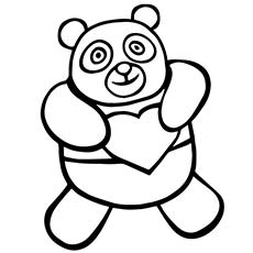 A-Panda-Bear-Coloring-love