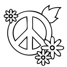 Peace And Love Coloring Pages Peace And Love Coloring Pages Good ... | 230x230