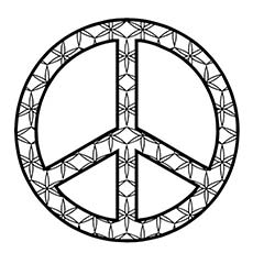 Peace Wheel Design Coloring Page