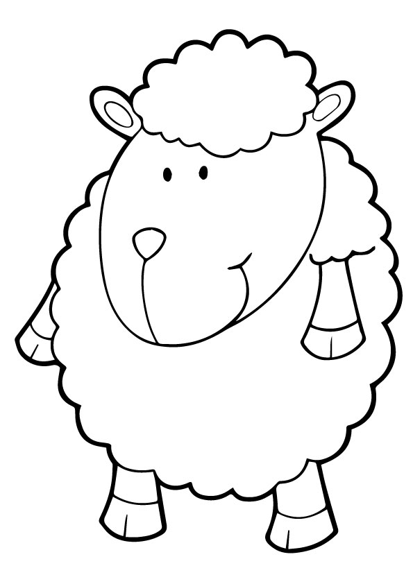A-Sheep-Coloring-cartoon