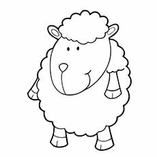 a sheep coloring cartoon - Sheep Coloring Page