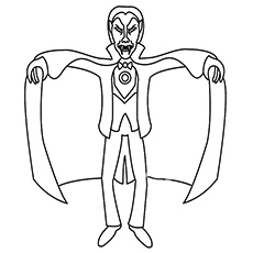 Vampire Coloring Pages long