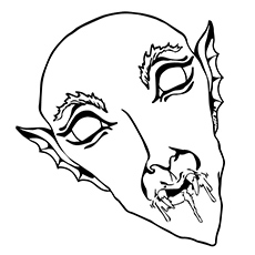 Vampire Mask Coloring Pages