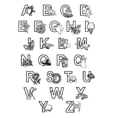Alphabets And What They Stand for Coloring Page
