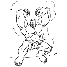 angry hulk in rage coloring page - Coloring Pages Incredible Hulk