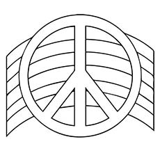 A Chance Peace Sign Coloring Sheet
