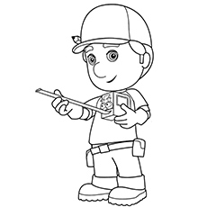A Handy Manny Coloring Pages Tape