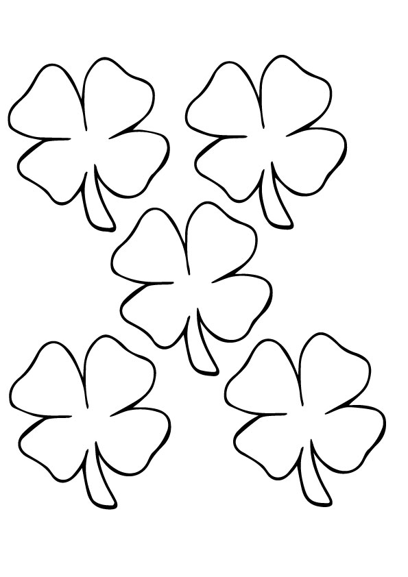 A-leaf-clover_coloring_page-five