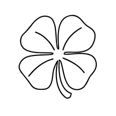 a leaf clover_coloring_page model