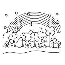 four leaf clover coloring pages Top 20 Free Printable Four Leaf Clover Coloring Pages Online four leaf clover coloring pages