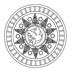 Mandala Lunar Coloring Sheet
