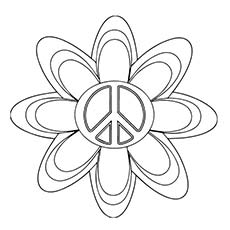 A Different Peace Symbol Coloring Sheet