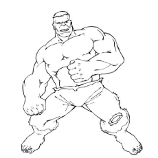 Hulk Fighting Drawing to Color for Kids