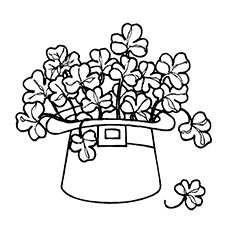 a shamrock coloring pages s - Shamrock Coloring Pages